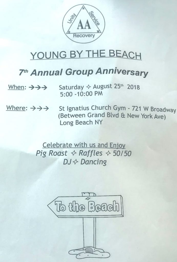 Young by the beach 7th annual group anniversary